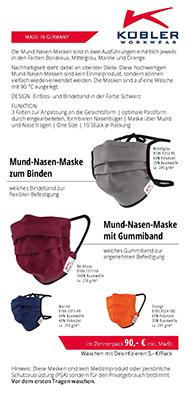 Flyer Gesichtsmaske